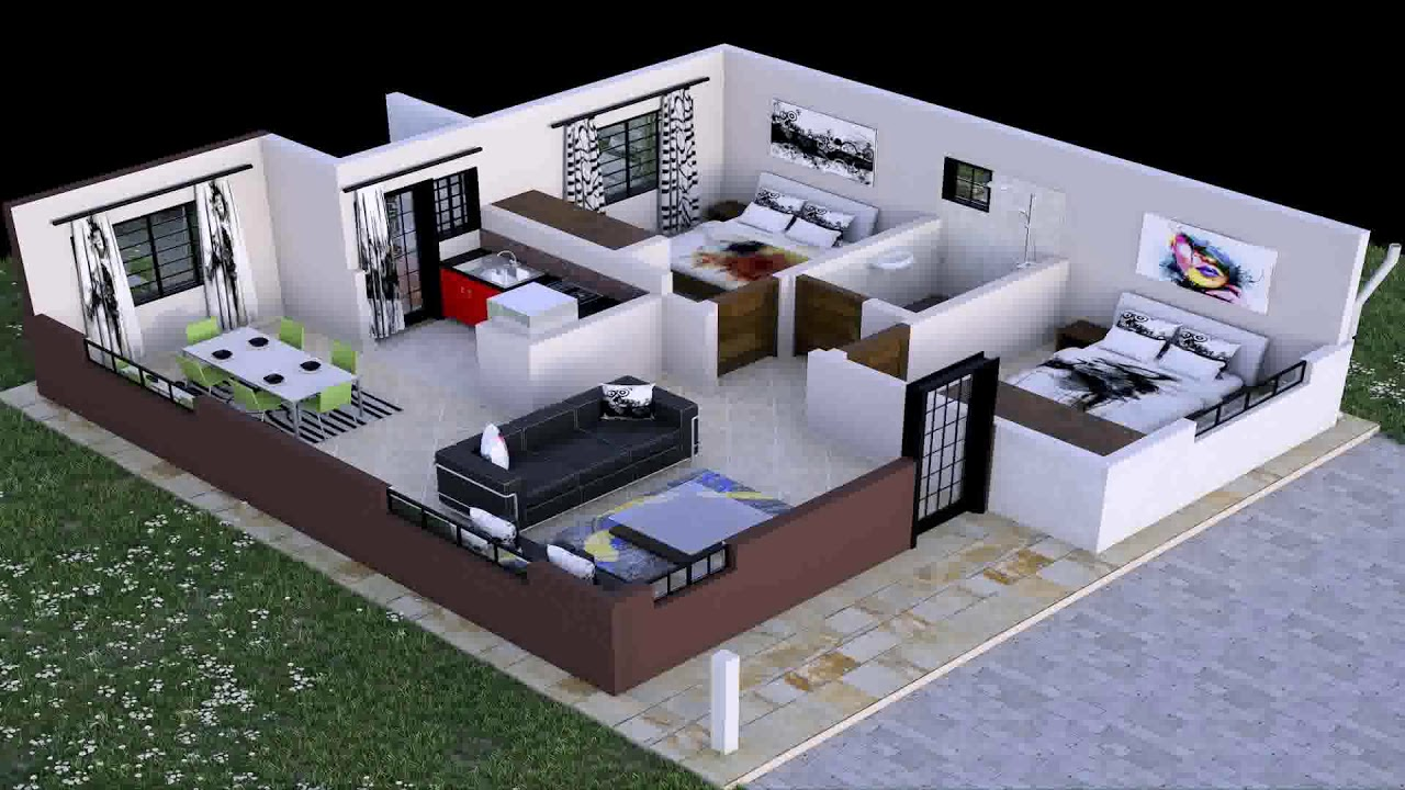 Two Bedroom House Plan In Kenya Youtube