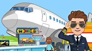 My Town Airport ✈️ Flughafen & Flugzeug Spiel App für Kinder