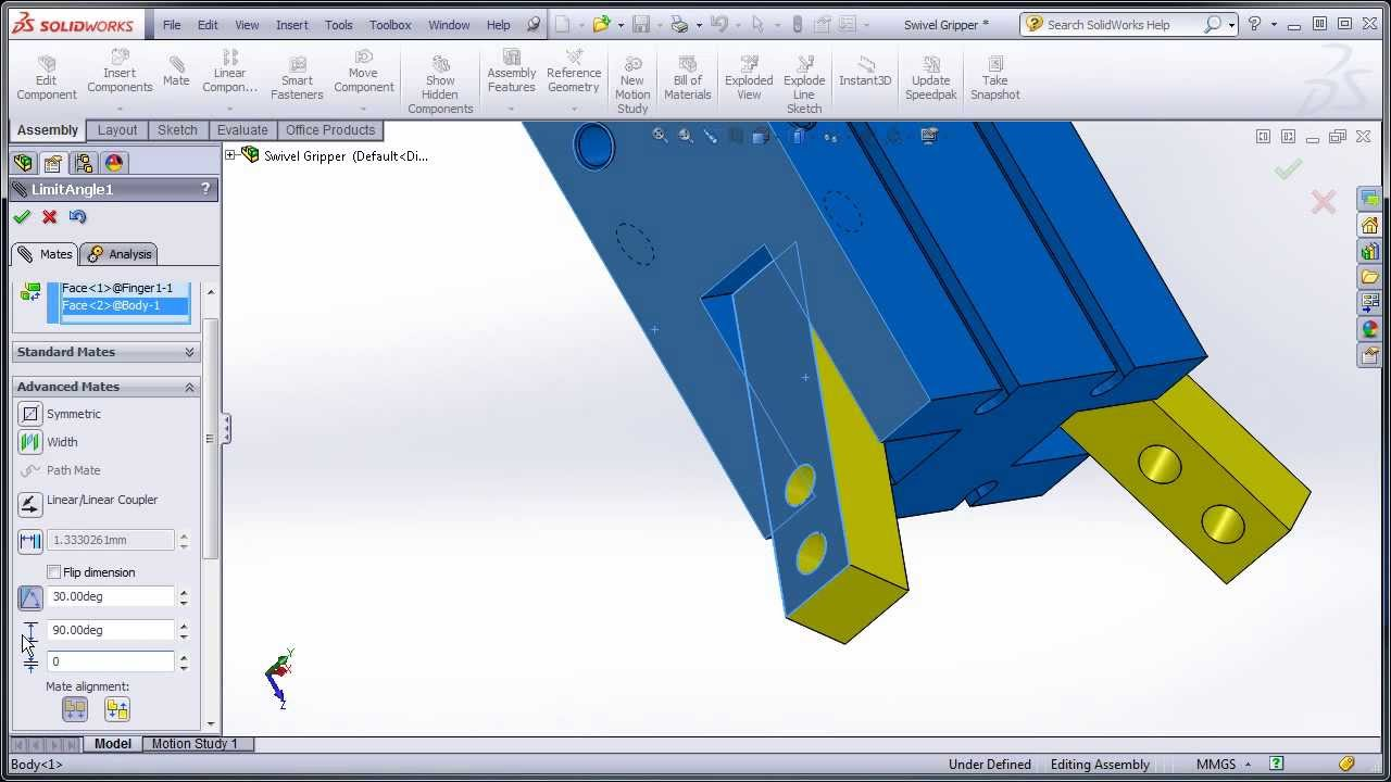 SolidWorks Flexible Sub-Assembly