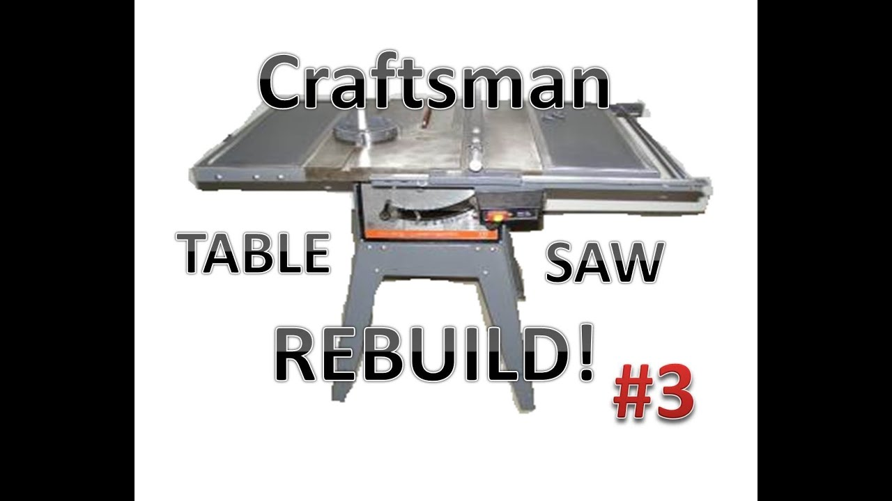 Table saw rebuild disassembly youtube table saw rebuild disassembly greentooth Image collections