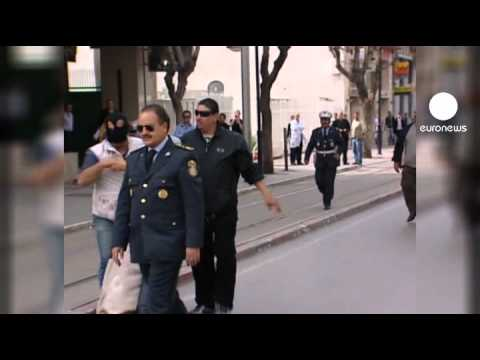 Tunis police break up fourth day of protest