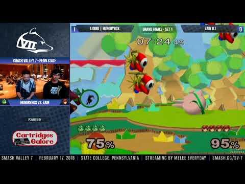 Smash Valley 7 - Liquid | Hungrybox (Jigglypuff) vs. Zain (Marth) - SSBM - Top 8, Grand Finals