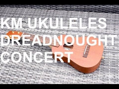 Got A Ukulele Reviews - KM Ukuleles Dreadnought Concert
