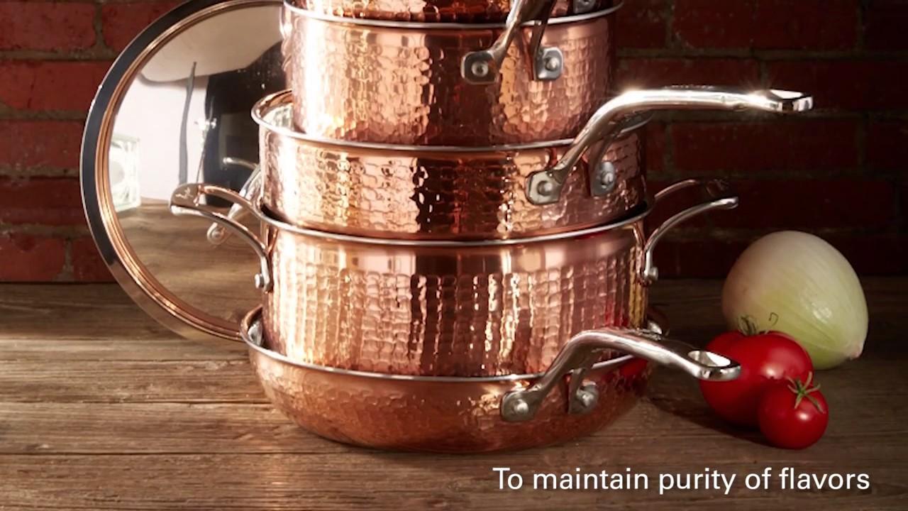 lagostina martellata copper best copper cookware youtube. Black Bedroom Furniture Sets. Home Design Ideas