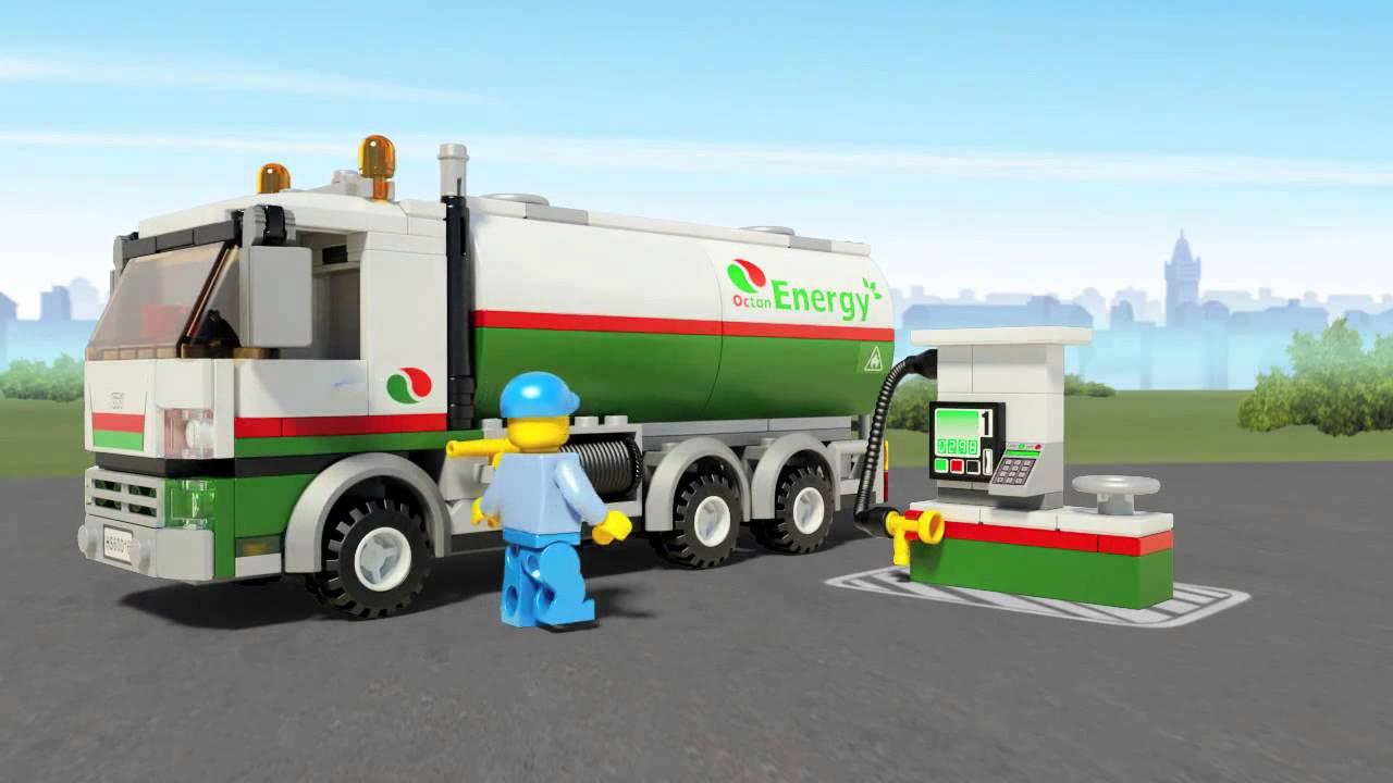Lego city 60016 cami n cisterna youtube - Lego camion de police ...