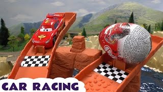 Lightning McQueen and Friends lost the wheels on the road Spiderman found tip truck with wheels