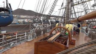 Leaving dry dock in Las Palmas on Sorlandet (Dec 11th, 2011)