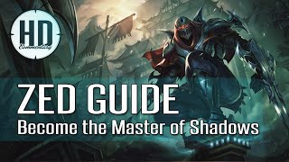 Zed Guide Season 5 - Become the Master of Shadows - Mid / Top - Runes, Masteries and Item Build