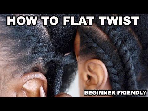 101 - HOW TO FLAT TWIST NATURAL HAIR BEGINNER FRIENDLY