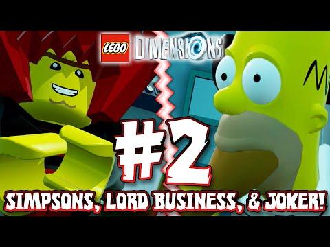lego dimensions part 2 simpsons lord business joker. Black Bedroom Furniture Sets. Home Design Ideas