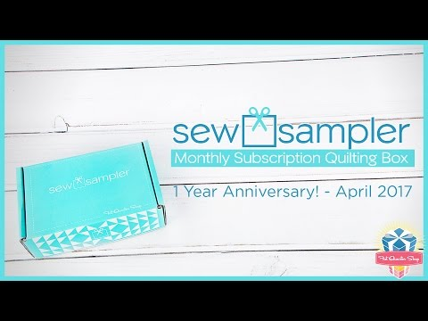 "What's Inside Fat Quarter Shop's ""Sew Sampler"" Monthly Subscription Quilting Box - April 2017?"