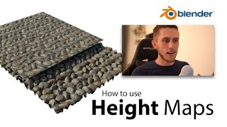 3 Most Popular Methods of using Height, Displacement or Bump Maps | Blender 2.8