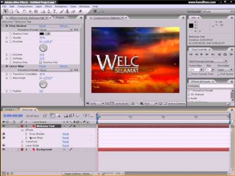 Como Criar Intro 2D 3 Venetian Blinds Linear Wipe After Effects