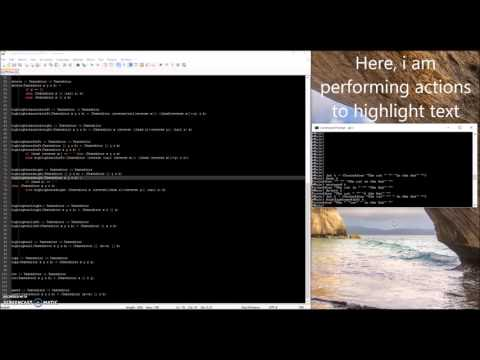 Programming Paradigms: Haskell Text Editor Demo
