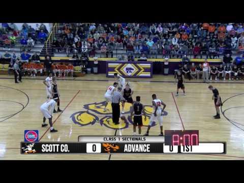 2017 Boys Class 1 Sectionals - Scott Co. Central vs. Advance  2-28-17