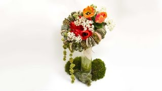 Флористика Как сделать каркас для букета (Мастер класс) Floral. lessons. Flowers design online
