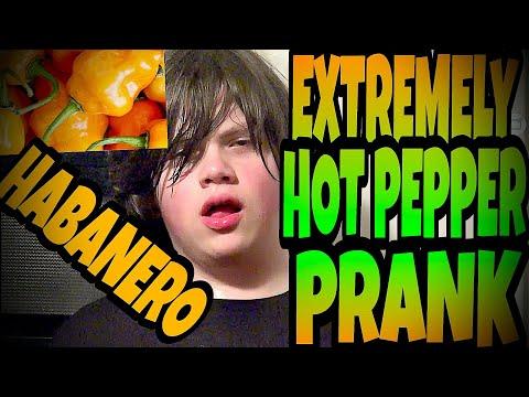 EXTREMELY HOT PEPPER PRANK ON WILLIAM!!! (Habanero)