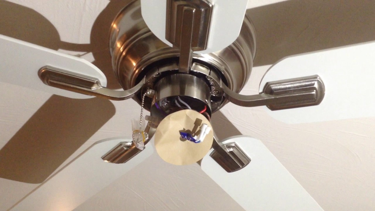 hampton bay hawkins 44 ceiling fan installation tutorial [ 1280 x 720 Pixel ]