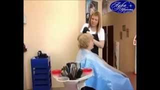 Вариант стрижки кудрявых волос