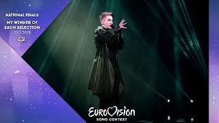Eurovision 2018 | My National Final Winners | (20/1/2018)