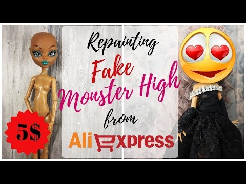 FAKE MONSTER HIGH DOLL REPAINT - Custominzing Cheap Doll from Aliexpress / Best for Beginners!