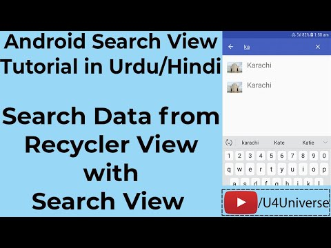 Android SearchView Tutorial | Search Data From RecyclerView With Search View In Android | U4Universe