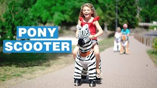 Ponycycle Self Propelled Kids Horse Scooter