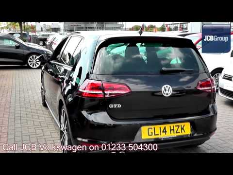 2014 Volkswagen Golf GTD 2l Deep Black Metallic GL14HZK for sale at JCB VW Ashford