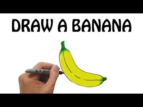 Learn How To Draw A Banana In Easy Steps Draw Fruits Basic