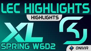 XL vs SK Highlights LEC Spring Season 2021 W6D2 Excel Esports vs SK Gaming by Onivia