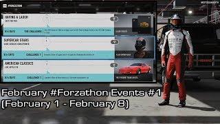 Forza Motorsport 7 - February #Forzathon Events #1 (February 1 - February 8)