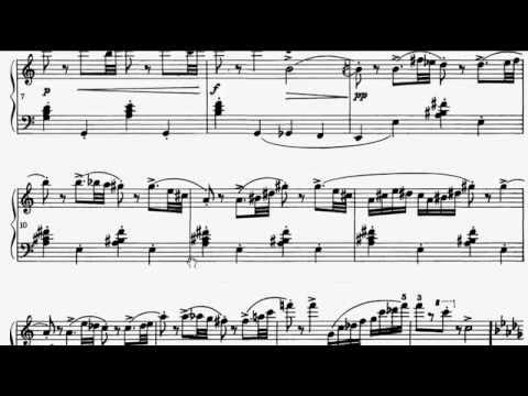 ABRSM Piano 2013-2014 Grade 7 C:6 C6 Prokofiev Con Vivacita Op.22 No.11 Sheet Music