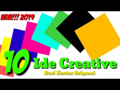 10 Ide Creative Keren Dari Kertas Origami Terbaru 2019   Kerajinan Tangan