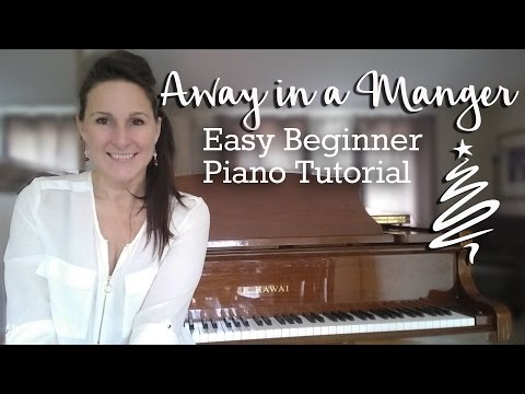 Away in a Manger - Easy Beginner Piano Tutorial - Free Christmas Song lessons on the Piano