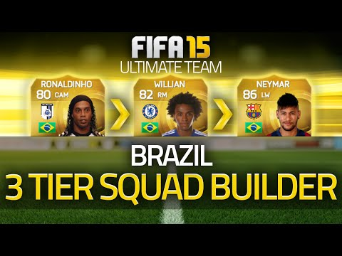 FIFA 15 - Brazil! The 3 Tier Squad Builder! (FIFA 15 Ultimate Team)