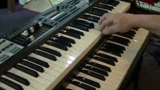Scott Russ demonstrates the new Hammond SK1 organ at Scott Russ  Music Inc.  in NY