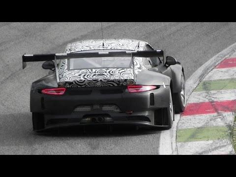 2016 Porsche 991 GT3 R Testing On Track