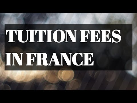 TUITION FEES for INTERNATIONAL STUDENTS in FRANCE