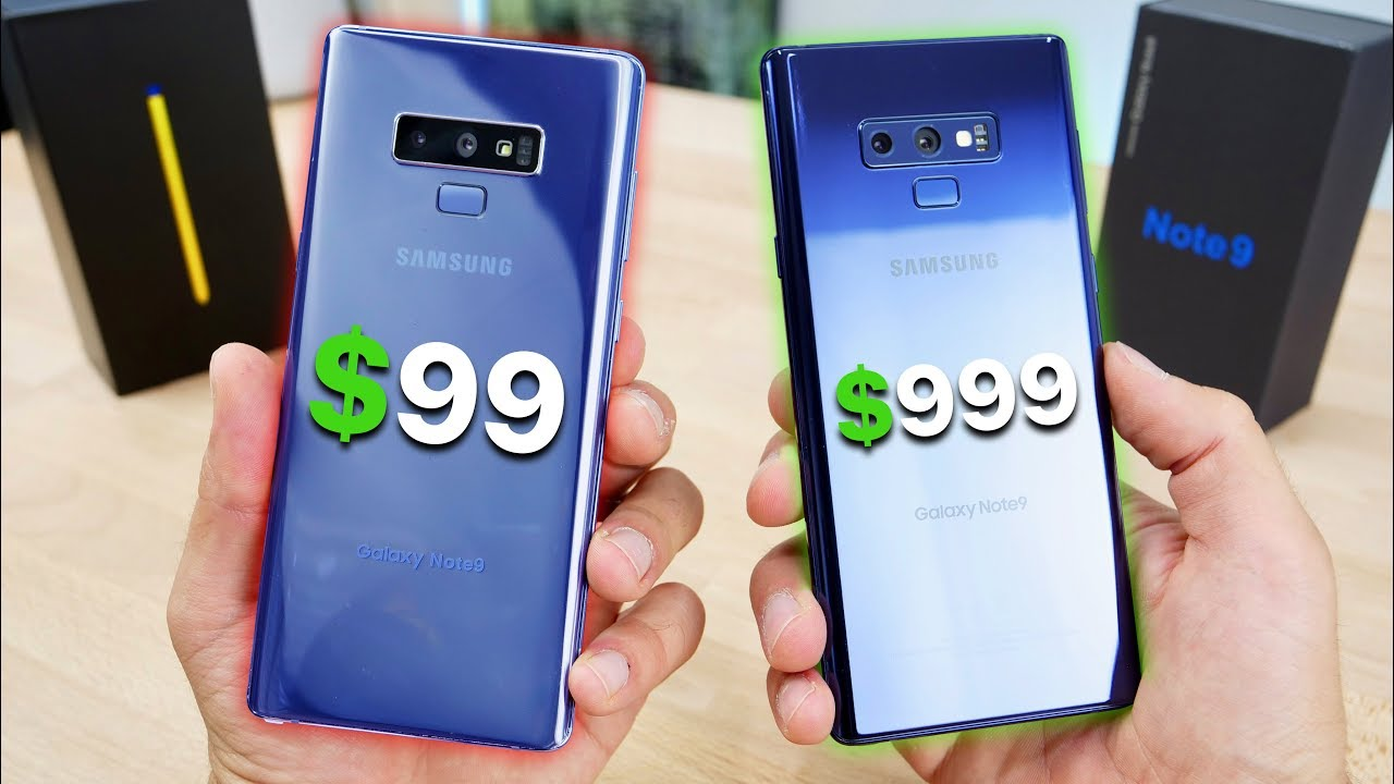 99 fake samsung galaxy note 9 vs 999 note 9 youtube. Black Bedroom Furniture Sets. Home Design Ideas