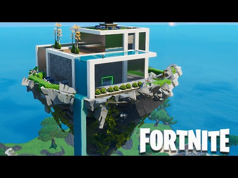 Fortnite Creative - Modern House on a Floating Island (Speed Build)