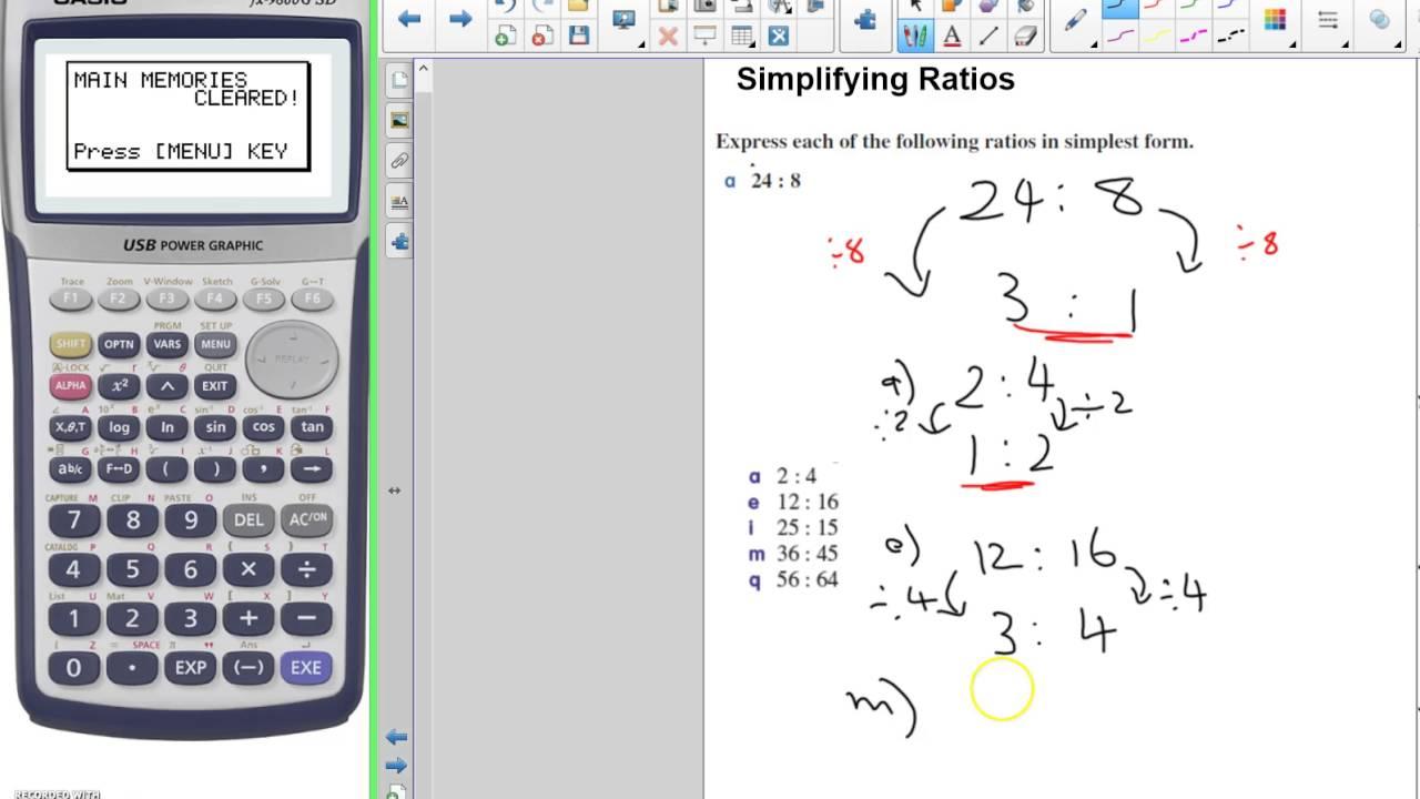 Simplifying Ratios - YouTube