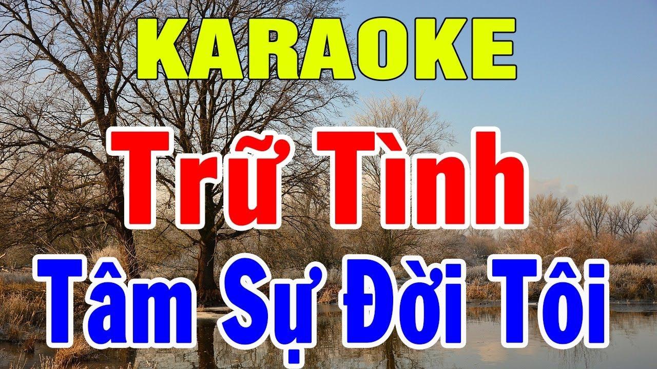 Karaoke Nhạc Sống Trữ Tình Bolero Nhạc Vàng Hòa Tấu | Liên khúc Rumba Tâm Sự Đời Tôi | Trọng Hiếu