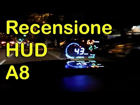 Proiettore parabrezza A8 HUD Head Up Display OBD2