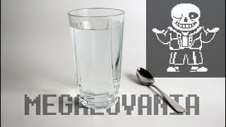 Undertale - Megalovania with glass of water and a spoon 💧