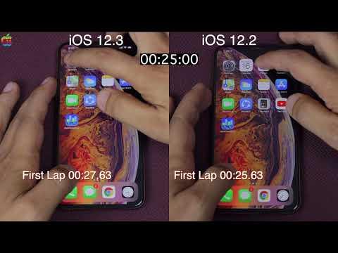 iOS 12.3 vs iOS 12.2 speed test on iPhone XS MAX | iSuperTech