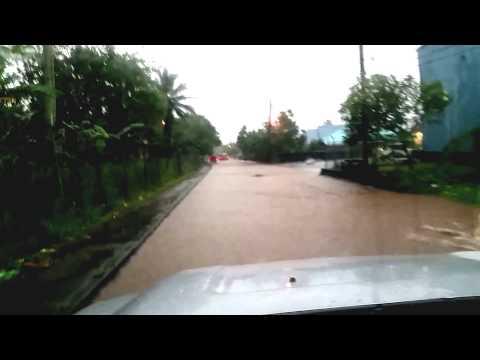 Driving in the Rain in American Samoa