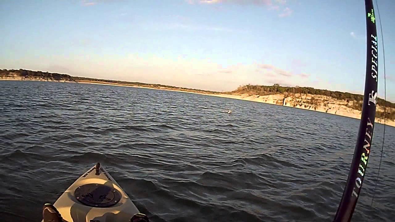 Kayak fishing on lake georgetown youtube for Lake georgetown fishing