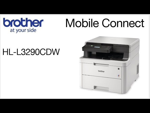 HLL3290CDW – Connect to a mobile device