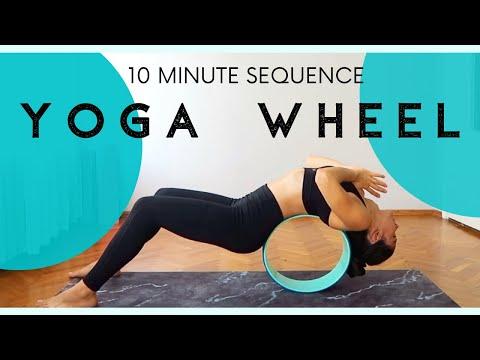 10 Minute Yoga Wheel Flow For Beginners | Bringmeyoga