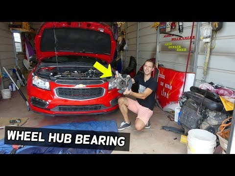 FRONT WHEEL HUB BEARING REPLACEMENT REMOVAL CHEVROLET CRUZE CHEVY